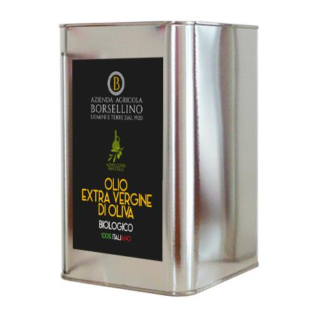 Olio Extra Vergine di Oliva Biologico - 3 L